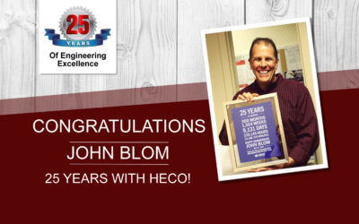John Blom hits 25 years with HECO!
